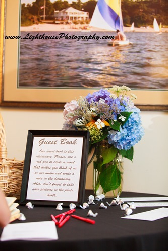 Personalized Hershey Kisses on guestbook table