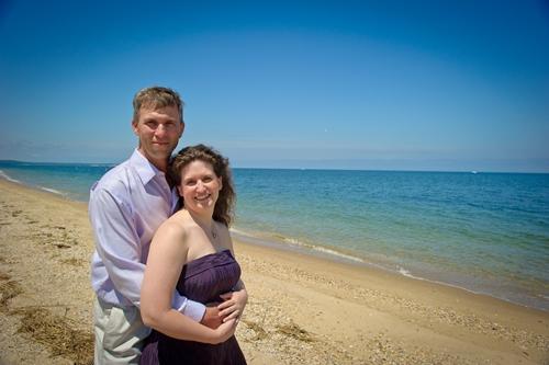 Jessica and Douglas on beach