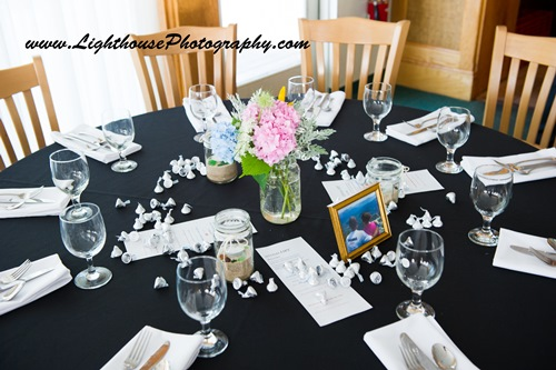 Personalized Hershey Kisses on table