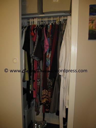 UnCluttered closet