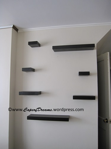 Installing Wall of shelves