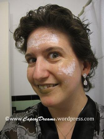 Liquid latex on face