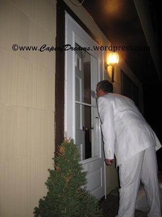 Zombie knocking at door