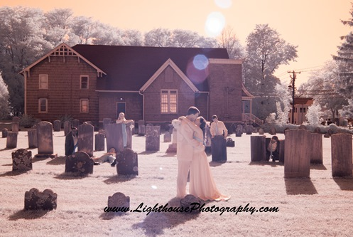 Zombie wedding shoot