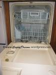 Inside of old dishwasher