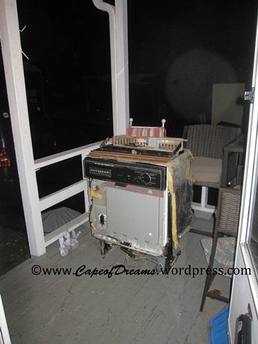 Taking out old dishwasher