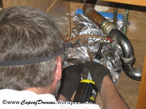 Soldering opper pipes