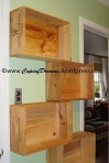 Installing wine crate shelves