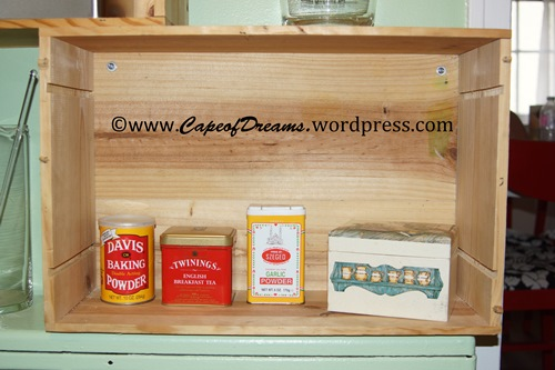 Small tins and recipe box