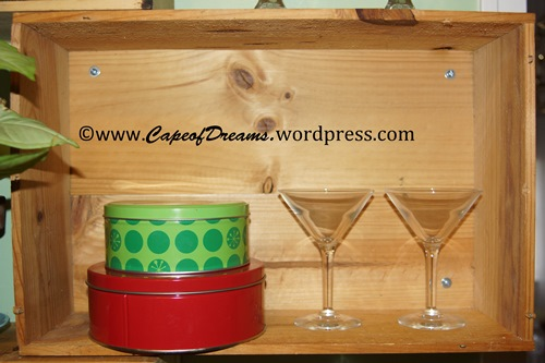 Tins and martini glasses