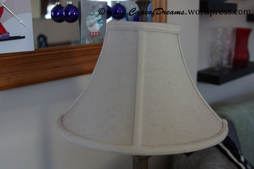 Dirty lamp shade
