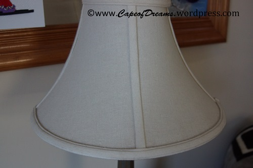 Clean lamp shade