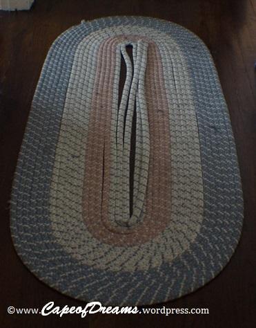 Braided rug falling apart