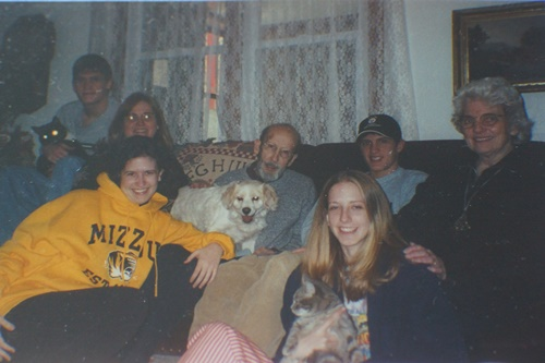 Family at Christmas 2000