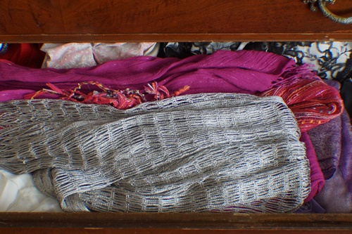 Scarves in drawer