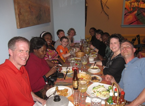 Dinner with Rwandan guests