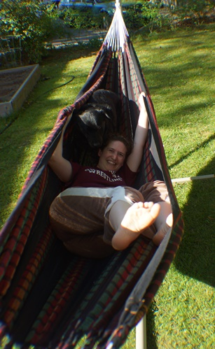 Trying out the new hammock
