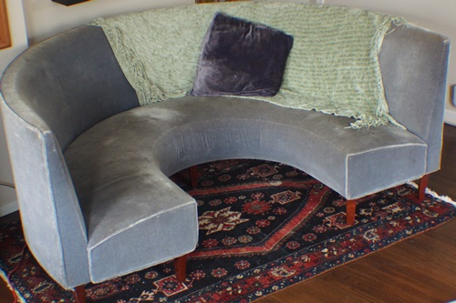 Oriental rug with circular couch