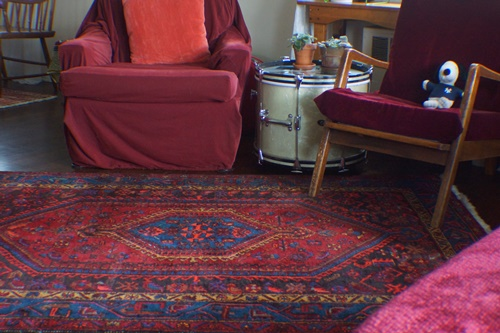 Oriental rug in living room