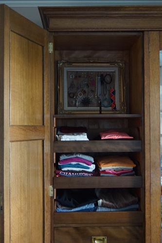 Organized wardrobe drawers